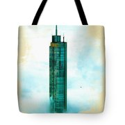 Illustration Of  Trump Tower Tote Bag