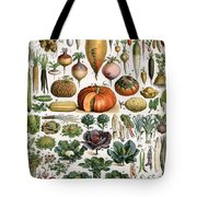 Illustration Of Vegetable Varieties Tote Bag