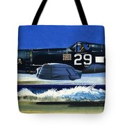 Into The Blue American War Planes Tote Bag