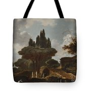 Italian Landscape With Stairs Tote Bag