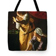 Judith And Maidservant With The Head Of Holofernes Tote Bag