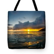 Kaena Point Sunset Tote Bag