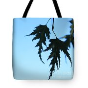 Lacy Birch Leaf Tote Bag