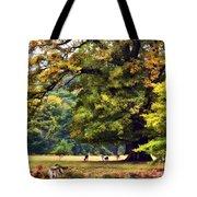 Landscape Under A Big Oak In Autumn Tote Bag