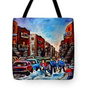 Late Afternoon Street Hockey Tote Bag
