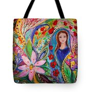 Leah And Flower Of Mandragora Tote Bag