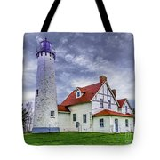Lighthouse At Point Iroquois Tote Bag