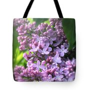 Lilacs On A Misty Morning Tote Bag
