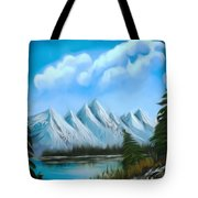 Lost Blue Lagoon Dreamy Mirage Tote Bag