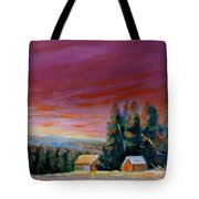 Lovely Sweeping Skies  Tote Bag