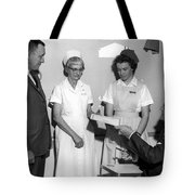 Man Male Handing Award Nurse February 1964 Black Tote Bag