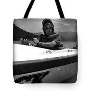 Man Male In Racing Boat June 12 1963 Black White Tote Bag