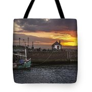 Maryport Harbour At Sunset Tote Bag