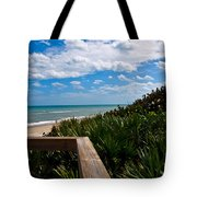 Melbourne Beach On The East Coast Of Florida Tote Bag