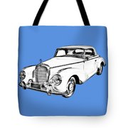 Mercedes Benz 300 Luxury Car Drawing Tote Bag