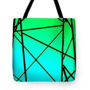 Metal Frame Abstract Tote Bag