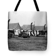 Military Cooks Next Stoves Tents Wood Circa 1910 Tote Bag