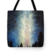Milky Way At Night Tote Bag
