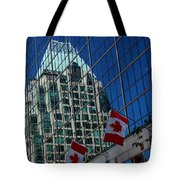 Modern Architecture - City Reflection Vancouver  Tote Bag