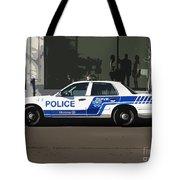 Montreal Police Car Poster Art Tote Bag