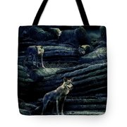 Moonlit Wolf Pack Tote Bag