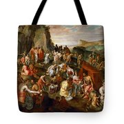 Moses Striking Water From The Rock Tote Bag