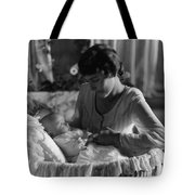 Mother Baby 1910s Black White Archive Bassinet Tote Bag