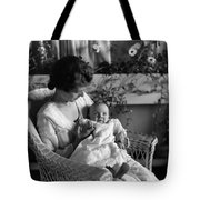 Mother Holding Baby 1910s Black White Archive Tote Bag