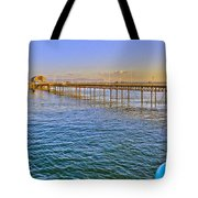 Mumbles Pier And Lifeboat Station Tote Bag