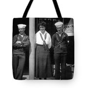 Navy Recruiting Personnel 19171918 Black White Tote Bag