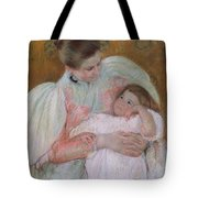 Nurse And Child Tote Bag