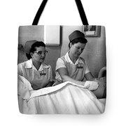 Nurse In Training Bathing Dummy Patient Circa Tote Bag