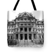 Old Executive Office Building Bw Tote Bag