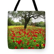 Olive Amongst Poppies Tote Bag