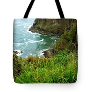 Oregon's Seaside Cliffs In Springtime Tote Bag