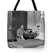 Patient Sitting Desk In Hospital Room Circa 1960 Tote Bag