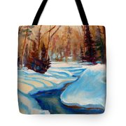 Peaceful Winding Stream Tote Bag