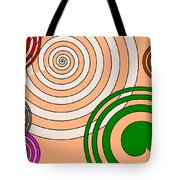 Peach And Curves Tote Bag