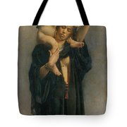 Peasant Woman And Her Child Tote Bag
