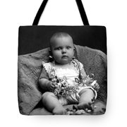 Portrait Headshot Baby Fruited Branch 1910s Tote Bag