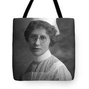 Portrait Headshot Nurse 1922 Black White 1920s Tote Bag