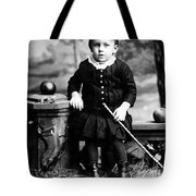Portrait Headshot Toddler Walking Stick 1880s Tote Bag