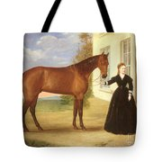 Portrait Of A Lady With Her Horse Tote Bag by English School