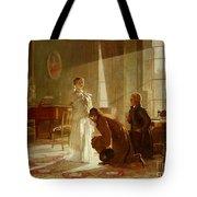 Queen Victoria Receiving News Tote Bag