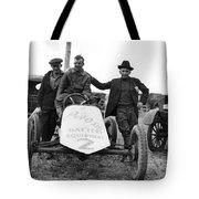 Race Car Team 1923 Black White 1920s Archive Tote Bag
