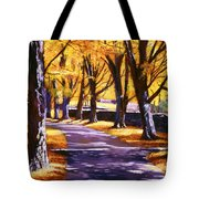 Road Of Golden Beauty Tote Bag