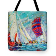 Sail Of Amsterdam II - Tree Sailboats  Tote Bag