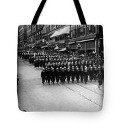 Sailors Marching In Parade 19171918 Black White Tote Bag