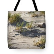 Sand And Driftwood Popham Beach Maine Tote Bag