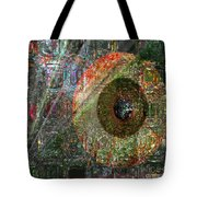 Savior Watching Over Me Tote Bag